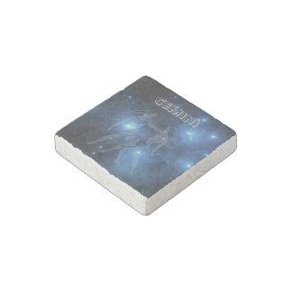Transparent Gemini Stone Magnet