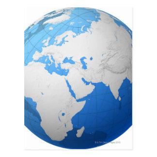 Transparent Globe 2 Postcard