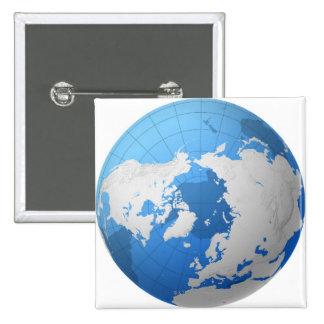Transparent Globe Pinback Button