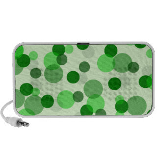 Transparent Green Dots Pattern Notebook Speakers