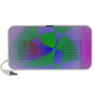 Transparent Green on Lavender Background Travel Speakers
