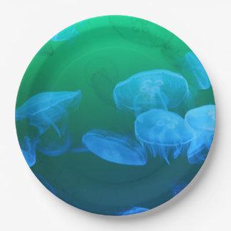 Transparent Jellyfish Paper Plate