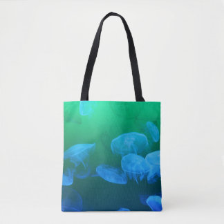 Transparent Jellyfish Tote Bag