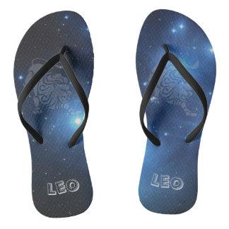 Transparent Leo Flip Flops