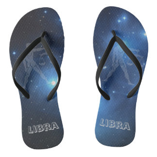 Transparent Libra Flip Flops