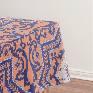 Transparent Monogram Azulejo Style Tablecloth