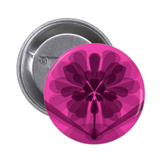 Transparent pink flower petals pinback button