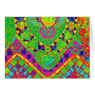 transparent rainbow mosaic card