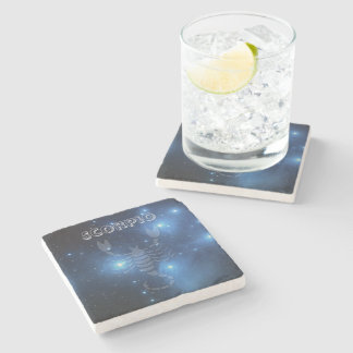 Transparent Scorpio Stone Coaster