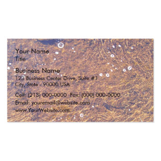 Transparent sea water pack of standard business cards