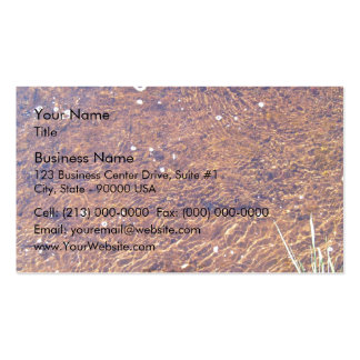 Transparent sea water ripple on the beach texture pack of standard business cards