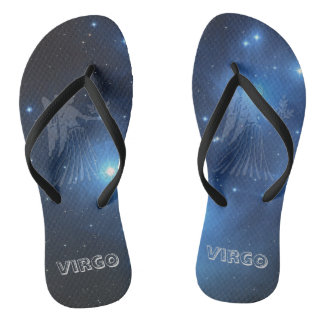 Transparent Virgo Flip Flops