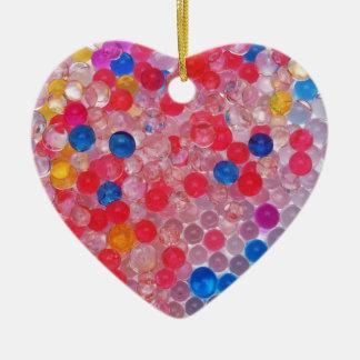 transparent water balls ceramic heart decoration