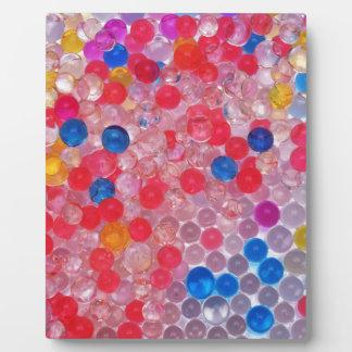 transparent water balls plaque