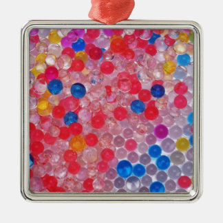 transparent water balls Silver-Colored square decoration