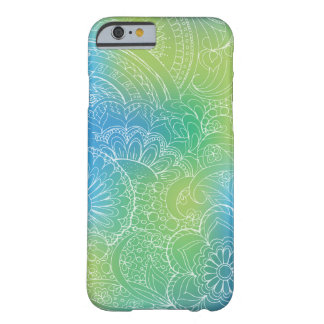 transparent white blue zen pattern gradient barely there iPhone 6 case