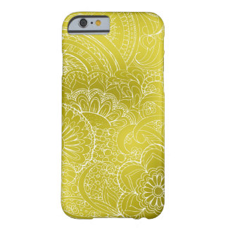 transparent white zen pattern gold gradient barely there iPhone 6 case