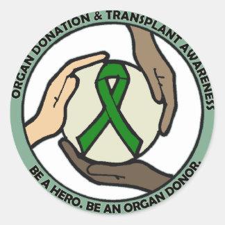 Transplant Support Classic Round Sticker