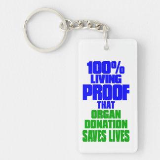 Transplant Survivor, Living Proof Key Ring