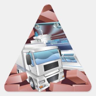 Transport Logistics Cargo Wall Concept Triangle Sticker