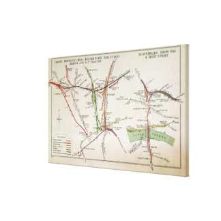 Transport map of London, c.1915 Canvas Print