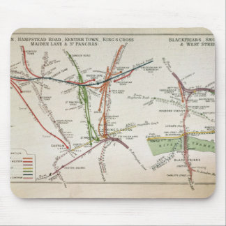 Transport map of London c 1915 Mousepads