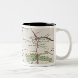 Transport map of London, c.1915 Two-Tone Coffee Mug