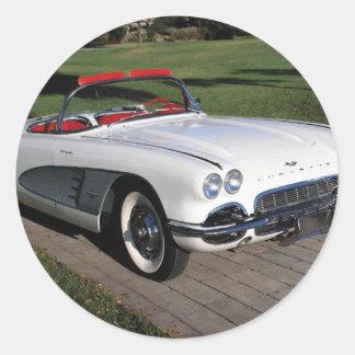 Transportation 077,classic cars,corvette,a classic round sticker