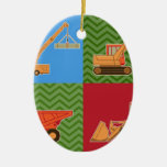 Transportation Heavy Equipment - Collage Christmas Ornament