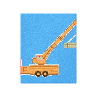 Transportation Heavy Equipment Crane Stretched Canvas Print
