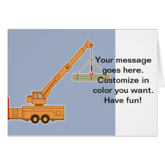 Transportation Heavy Equipment Crane Card