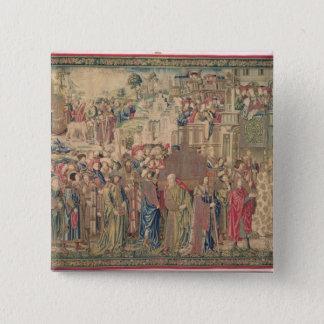 Transportation of the Ark of the Covenant, Tapestr 15 Cm Square Badge