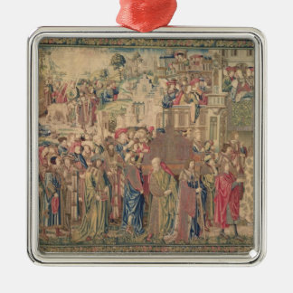Transportation of the Ark of the Covenant, Tapestr Silver-Colored Square Decoration
