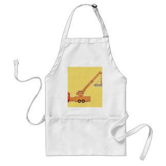 Transportation Orange Crane - Yellow Apron