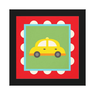 Transportation Wrapped Canvas Wall Decor for Kids Gallery Wrap Canvas