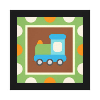 Transportation Wrapped Canvas Wall Decor for Kids Gallery Wrapped Canvas