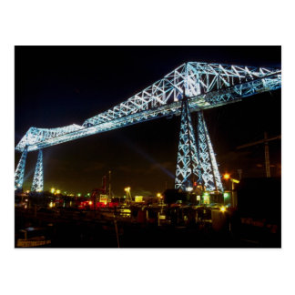 Transporter Bridge at night, Cleveland, Ohio, U.S. Postcard