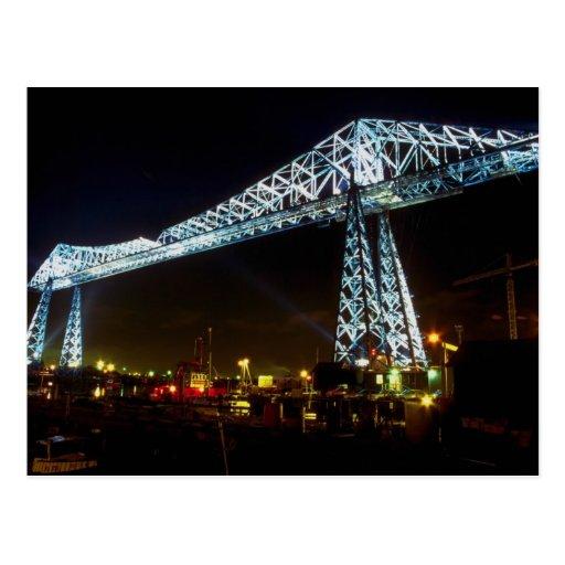 Transporter Bridge at night, Cleveland, Ohio, U.S. Postcard