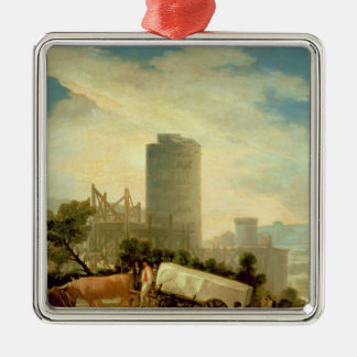 Transporting a Stone Block, 1786-87 Christmas Ornament