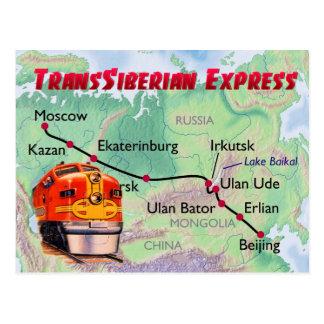 Transsiberian express postcard