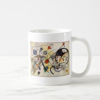 Transverse Line Basic White Mug