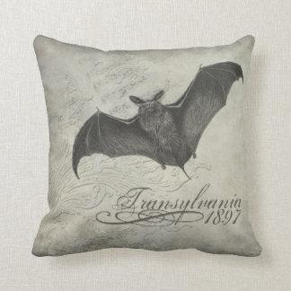 Transylvania 1897 Bat Collage Pillow Halloween