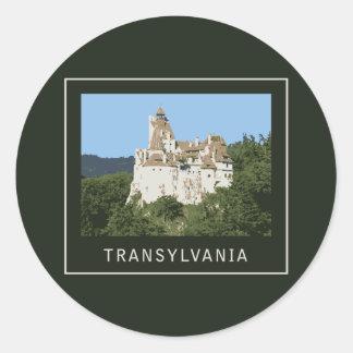 Transylvania Bran Castle Round Sticker