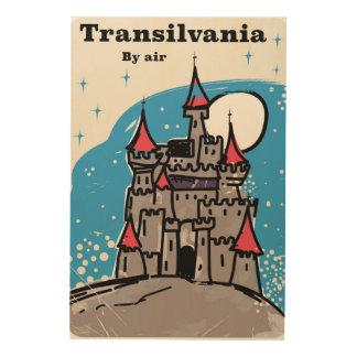 Transylvania Castle vintage travel poster