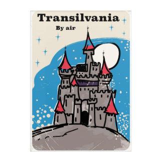 Transylvania Castle vintage travel poster Acrylic Print
