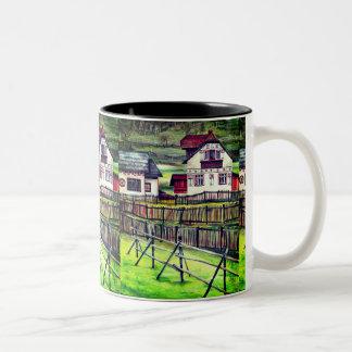 Transylvania, Romania Two-Tone Coffee Mug