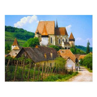 Transylvannian village postcard