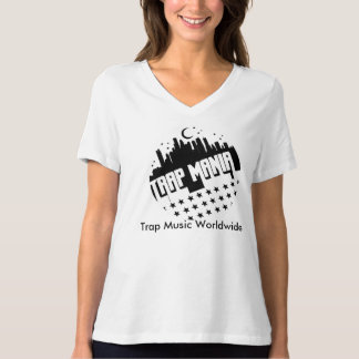 Trap Mania Women's Bella Relaxed Fit - White T-Shirt