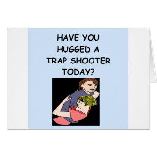 trap shooting greeting cards