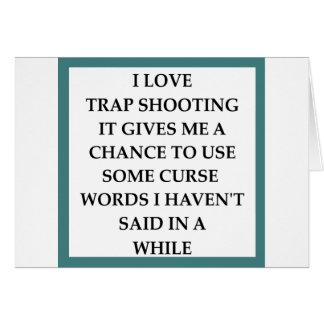 trap shooting greeting card